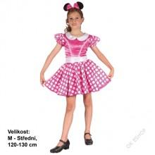 Dětský karnevalový kostým Myška MINNIE 120-130 cm ( 5 - 9 let )
